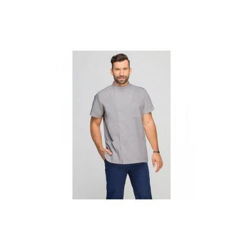 Ubrania medyczne, Bluza medyczna męska z boczną stójką szara
