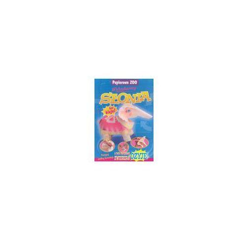 Książki dla dzieci, Składamy słonia Papierowe ZOO (opr. broszurowa)