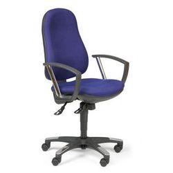 Krzesło biurowe DERBY, niebieski