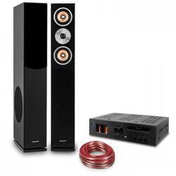 """Hifi Zestaw hi-fi """"Music Glow""""   głośniki podłogowe   wzmacniacz lampowy hi-fi   kabel"""