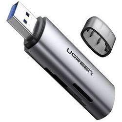 Ugreen 2w1 czytnik kart pamięci SD / micro SD z złączem USB 3.2 Gen 1 (SuperSpeed USB 5 Gbps) szary (60723 CM216)