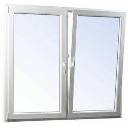 Okno PCV rozwierne + rozwierno-uchylne trzyszybowe 1165 x 1435 mm symetryczne białe