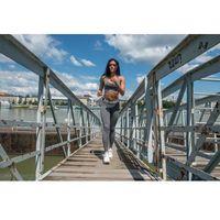 Odzież fitness, Nebbia Legginsy MELANGE Model N222 dark grey