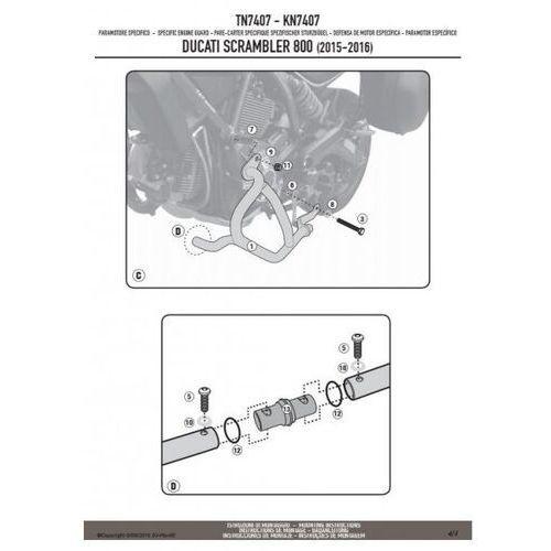 Gmole, Kappa kn7407 gmole osłony silnika ducati scrambler