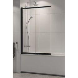 New Trendy parawan nawannowy Sensi Black 100 cm, wys. 150 cm, szkło czyste 5 mm P-0046