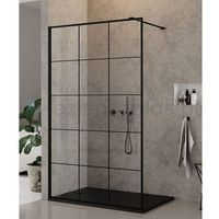 Ścianki prysznicowe, NEW TRENDY Ścianka prysznicowa 70cm czarne profile NEW MODUS BLACK EXK-0244 * WYSYŁKA GRATIS