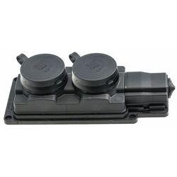 Przedłużacz gumowy 2-gniazda z/u 3m /H05RN-F 3G1,5/ czarny IP44 D.3159/2-3