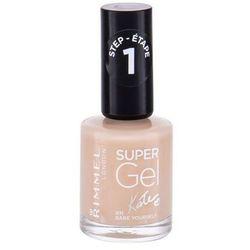 Rimmel Super Gel By Kate żelowy lakier do paznokci bez konieczności użycia lampy UV/LED odcień 011 Bare Yourself 12 ml