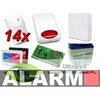 Zestawy alarmowe, Zestaw alarmowy SATEL Integra 64, klawiatura dotykowa, 14 czujek, sygnalizator zewnętrzny