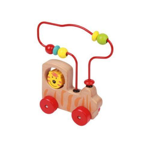 Zabawki z drewna, SMG LENA® Drewniana lokomotywa z pętlą motoryczną 32045