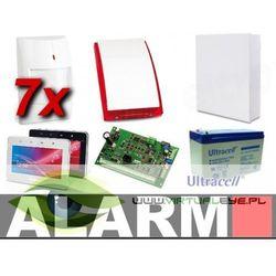 Zestaw alarmowy SATEL Integra 32, klawiatura dotykowa, 7 czujek, sygnalizator zewnętrzny