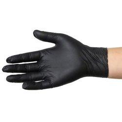Rękawice nitrylowe NIE PUDROWANE Rozmiar M Czarne 100 szt