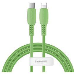 Baseus Colourful kabel przewód USB Typ C / Lightning Power Delivery 18W 1,2m zielony (CATLDC-06) - Zielony