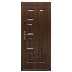 Drzwi wewnątrzklatkowe stalowe Splendoor Gaja 80 prawe orzech szlachetny