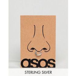 ASOS DESIGN Sterling Silver Aztec Style Faux Septum Ring - Silver