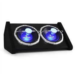 """Auna Podwójny subwoofer samochodowy 2x25cm (2x10"""") efekt LED"""