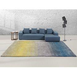 Dywan szaro-niebiesko-żółty - 300x400 cm - Shaggy - poliester - DINAR