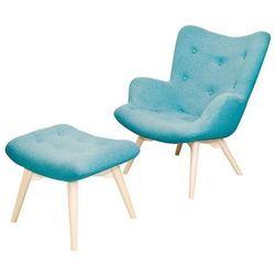 TUTUBI fotel tapicerowany z podnóżkiem
