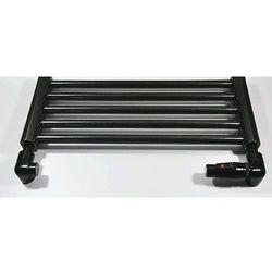 Zestaw łazienkowy osiowo prawy CU na miedź Schlosser Lux 6037 00026 Czarny RAL 9005