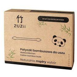 ZUZII Patyczki kosmetyczne bambusowe z bawełną dla dzieci 50 szt