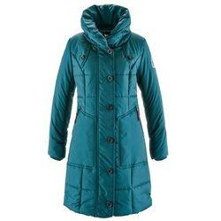 Płaszcz pikowany bonprix niebieskozielony