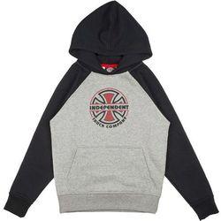 bluza INDEPENDENT - Youth ITC Bauhaus Raglan Hood Black/Heather Grey (BLACK-HEATHER GREY) rozmiar: 6