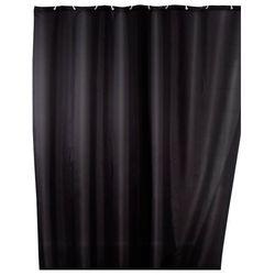 Zasłona prysznicowa, tekstylna, kolor czarny, 180x200 cm, WENKO