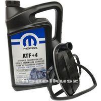 Filtry oleju do skrzyni biegów, Olej MOPAR ATF+4 oraz filtr automatycznej skrzyni biegów NAG1 Dodge Challenger