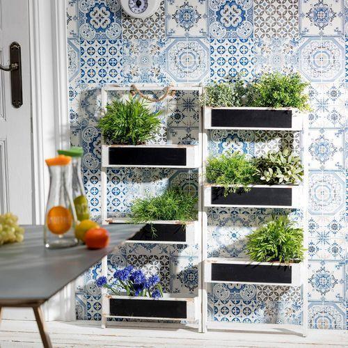 Pozostałe wyposażenie domu, Dekoria Stojak na zioła/ kwiaty 82x25x98cm, 82 × 25 × 98 cm
