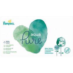 Chusteczki Pampers Aqua Pure 9x48- natychmiastowa wysyłka, ponad 4000 punktów odbioru!