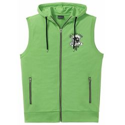 Kamizelka dresowa z dużym nadrukiem bonprix zielony z nadrukiem