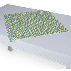 Dekoria Serweta 60x60 cm, oliwkowo-żółte romby na turkusowym tle, 60 x 60 cm, Comics