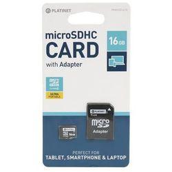 Karta MicroSD Platinet microSDHC, 16GB, Class 10 (42209) Darmowy odbiór w 19 miastach!