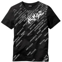T-shirt Slim Fit bonprix czarny
