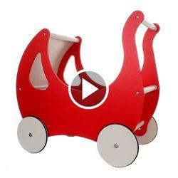 Wózek dla lalek drewniany z budką Rekar