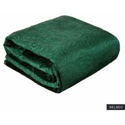 SELSEY Narzuta na łóżko Edanika 220x240 cm ciemnozielona