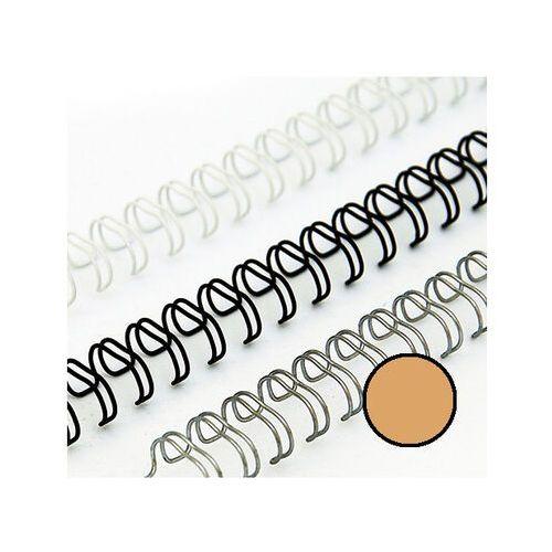 Grzbiety do bindownic, Grzbiety drutowe 12.7 mm, oprawa do 100 kartek, złote