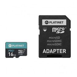 PLATINET microSDHC + ADAPTER SD 16GB class10 UI PMMSD16UI