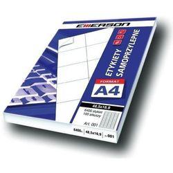 Etykiety 105 X 57,0 mm, 10 szt/A4 EMERSON uniwersalne (G) - X06640