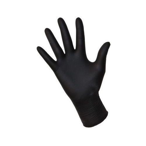 Rękawice robocze, Rękawiczki jednorazowe bezpudrowe | nitrylowe | rozmiar S | 100szt
