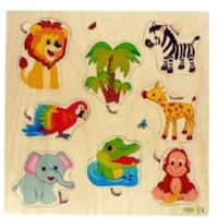 Gry dla dzieci, HESS Układanka Zwierzątka dżungla