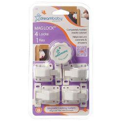 Magnetyczne zamknięcie szafek 4szt+klucz Dreambaby