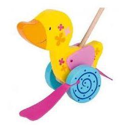Drewniana zabawka do pchania, kaczuszka Susibelle