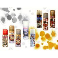 Pozostałe artykuły plastyczne, Farba w spray Brewis FX01 250ml złota/srebrna/biała/mix