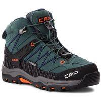 Kozaki dziecięce, Trekkingi CMP - Kids Rigel Mid Trekking Shoes Wp 3Q12944 Jungle/Black Blue 77BN