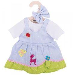 Ubranko dla lalki niebieskie w kropki