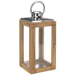 Drewniany lampion, latarenka na świecę