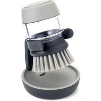 Szczotki, Szczotka do mycia naczyń z zasobnikiem Palm Scrub Joseph Joseph szara (85005)