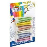 Pozostałe artykuły szkolne, Brokat FIORELLO sypki GR-B6B62 6 kolorów x 6g w fiolce 170-2237