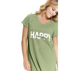 Bawełniana koszula nocna damska Dn-nightwear TCB.9504 zielona